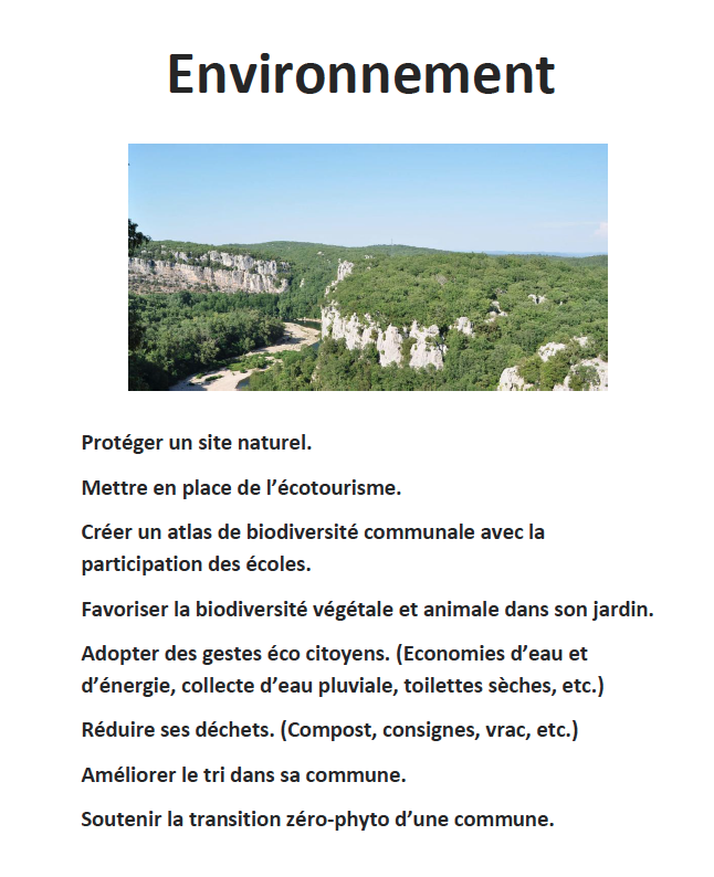 Rencontres ecologiques 2018